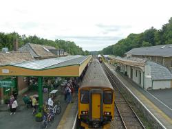 Train at Okehampton station